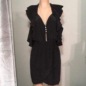 Charlie Jade black silk dress. New
